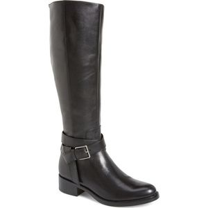 COLE HAAN EUC black Briarcliff riding boots